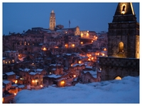 Sassi di Matera con la neve