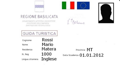 blue badge guides Matera Basilicata